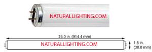 "Tru-Lite Ultra  F32T8, 48"" Full Spectrum # TLUF32T8"