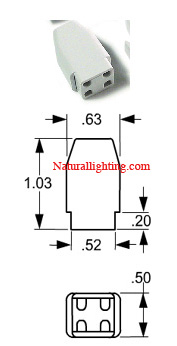Socket - 4 pin Square No Mount (# S4PNM100)