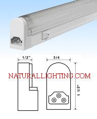 "T5 Fluorescent Sleek Plus - 6 watt (9.75"")"
