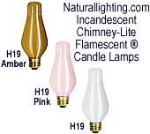 Naturallighting.com Incandescent Chimney-Lite Flamescent Candle Lamps