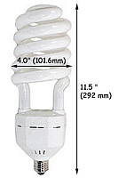 High Output Compact Fluorescent Bulbs