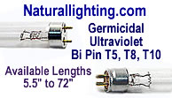 Naturallighting.com - Germicidal Ultraviolet T5, T8, T10 Lamps
